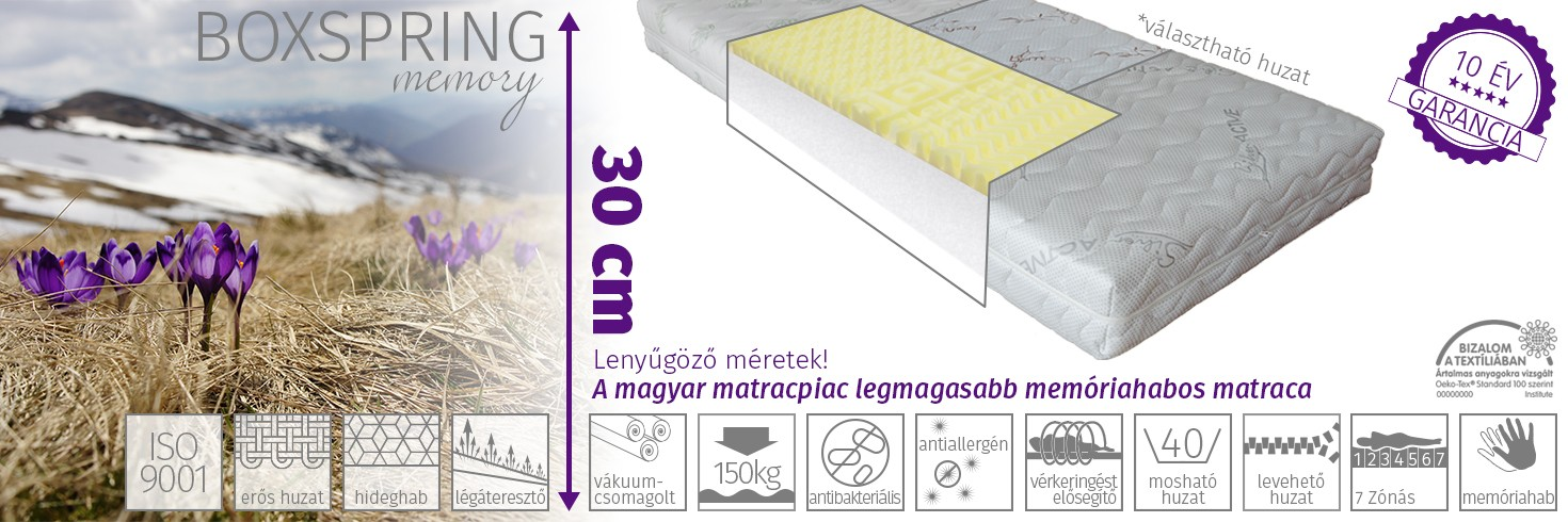 Boxspring memory matrac