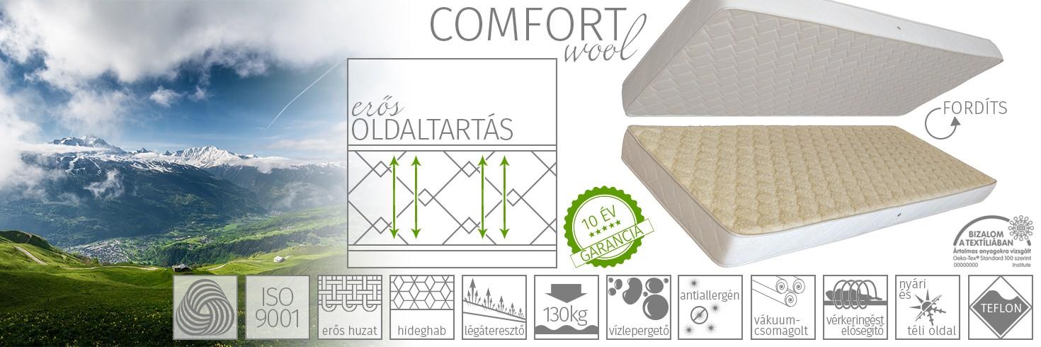 Comfort wool matrac