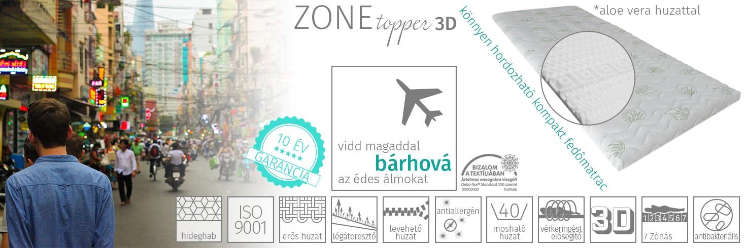 Zone Topper 3D fedőmatrac
