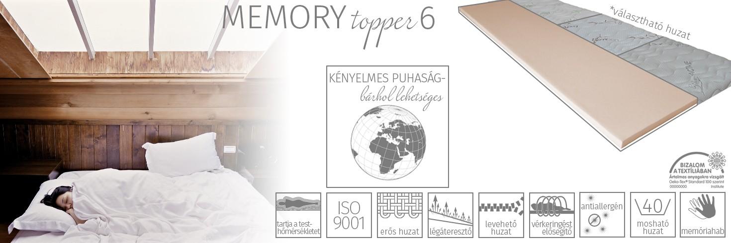 Memory topper 6 fedőmatrac