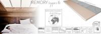 Memory topper 6 fedőmatrac Fedőmatrac