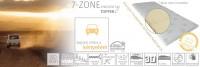 7-zone memory fedőmatrac Fedőmatrac