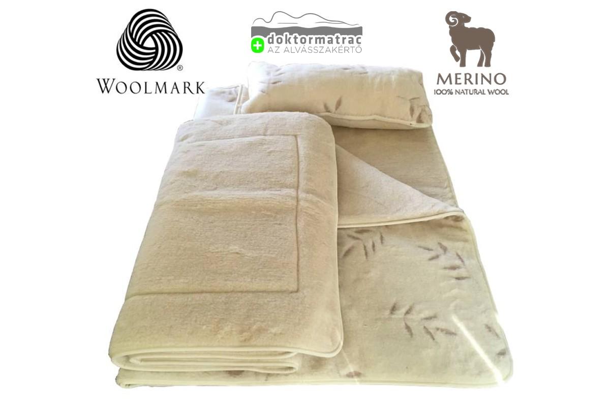 520g/m2 Woolmark Merino Bárány OLIVA mintás gyapjú garnitúra