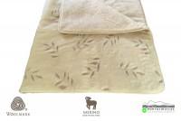 520g/m2 Woolmark Merino Bárány OLIVA mintás gyapjú garnitúra - gyapjú garnitúrák