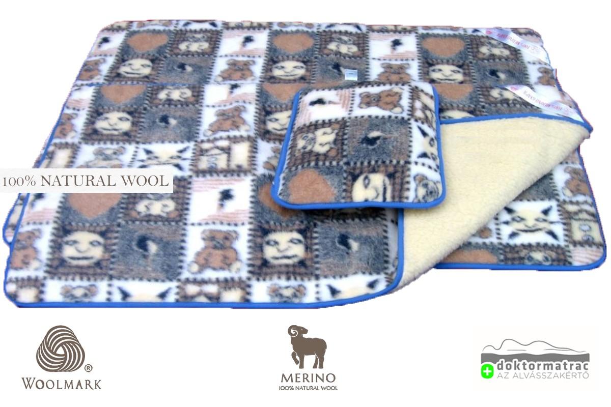 Woolmark Merino Bárány gyapjú gyermek 450g/m2 garnitúra