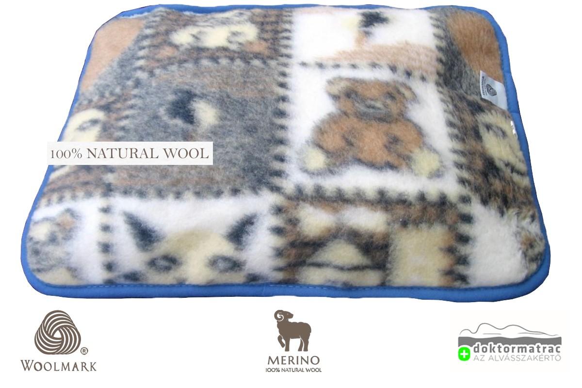 Woolmark Merino Bárány gyapjú gyermek párna 450g/m2