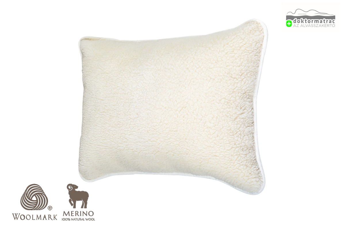 Woolmark Merino Bárány gyapjú párna 480g/m2