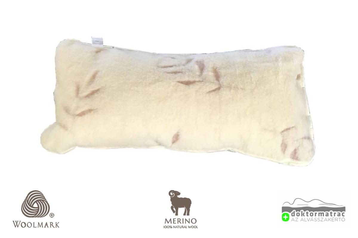 Woolmark Merino Bárány gyapjú Oliva párna 520g/m2