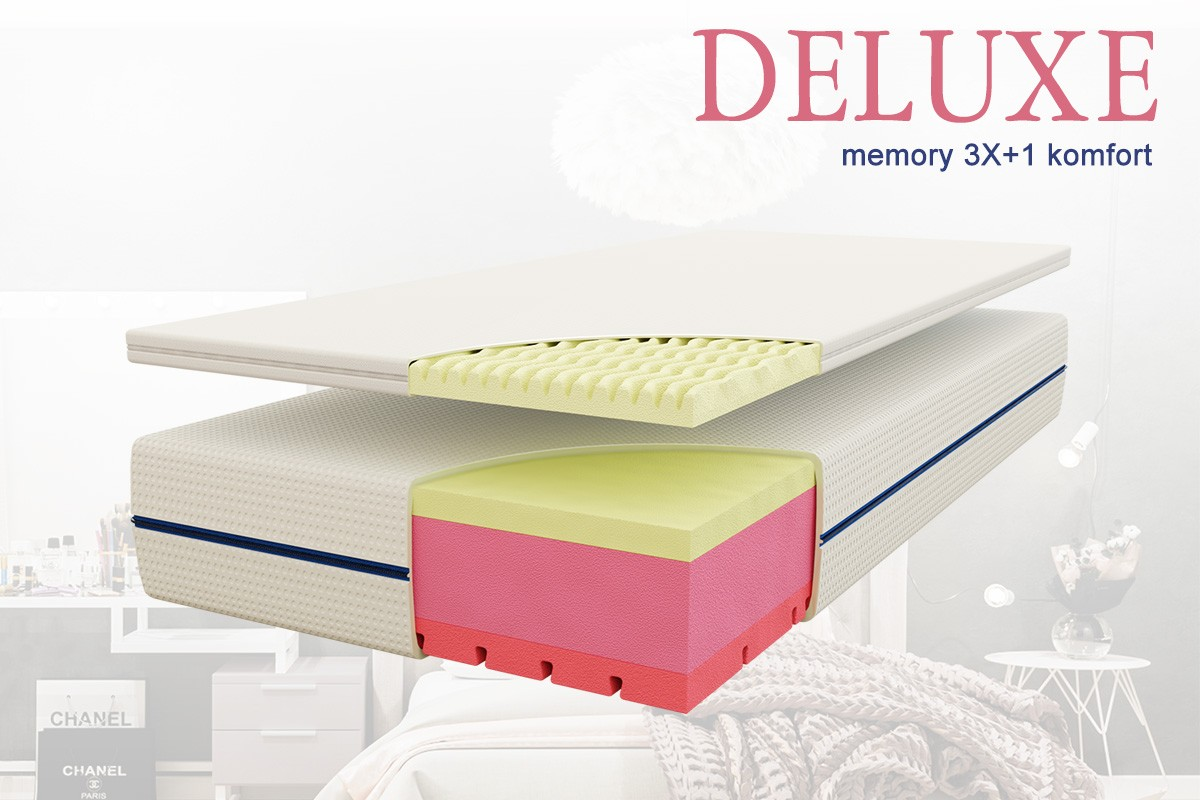 Deluxe memory 3X+1 komfort matrac